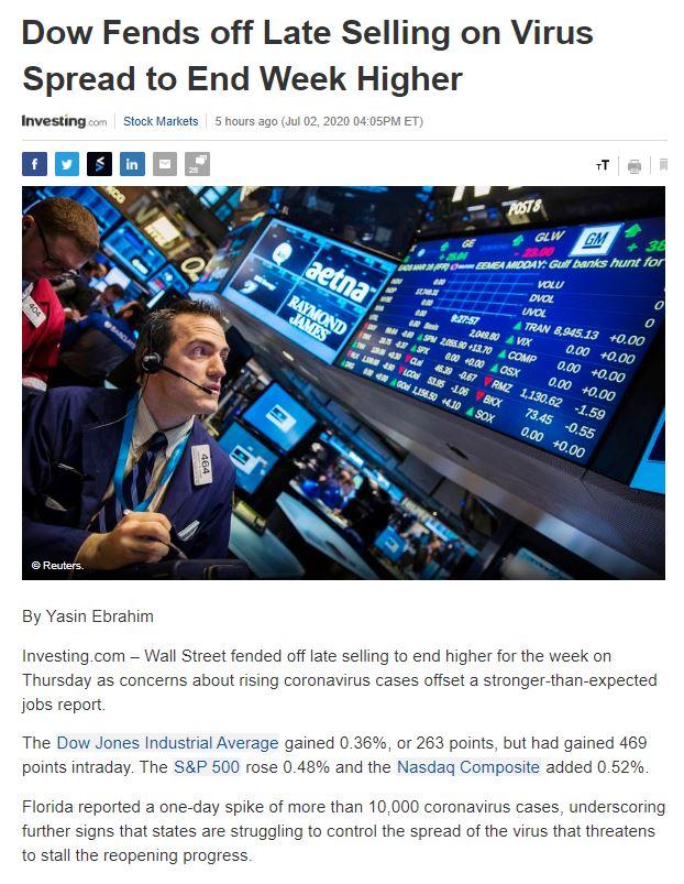 Điểm tin tài chính ngày 3/7/2020