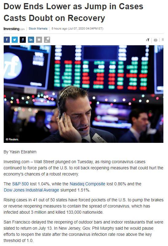 Điểm tin tài chính ngày 8/7/2020