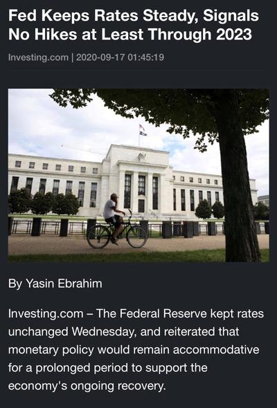 Điểm tin tài chính ngày 17/9/2020