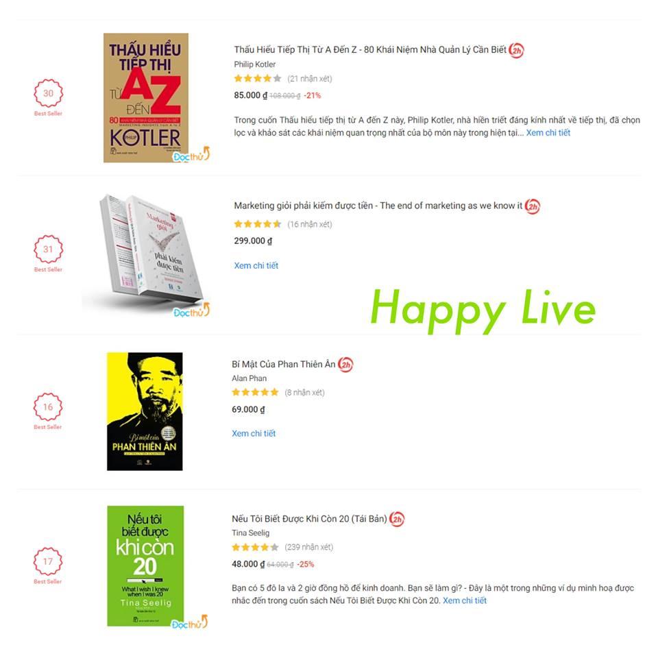 Top sách kinh tế bán chạy của Tiki