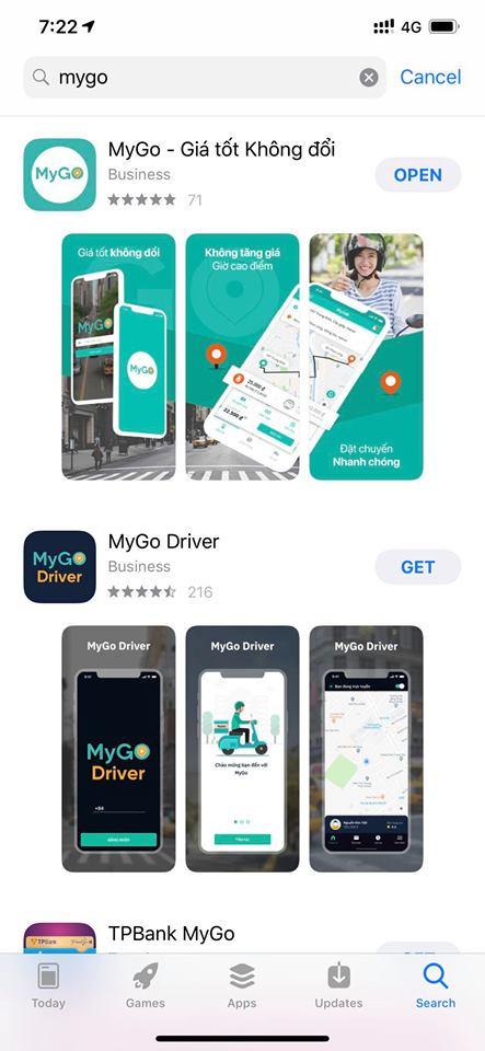App Mygo: Thêm lựa chọn cho khách hàng Việt