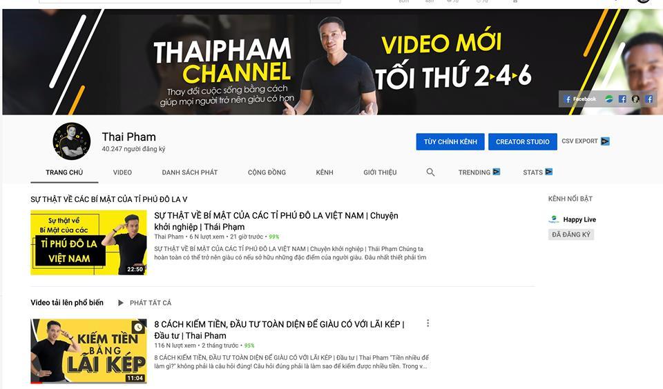 """""""Thay máu"""" youtube Thái Phạm"""