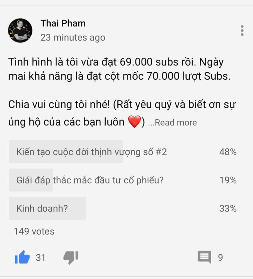 Quà tặng fan youtube Thái Phạm