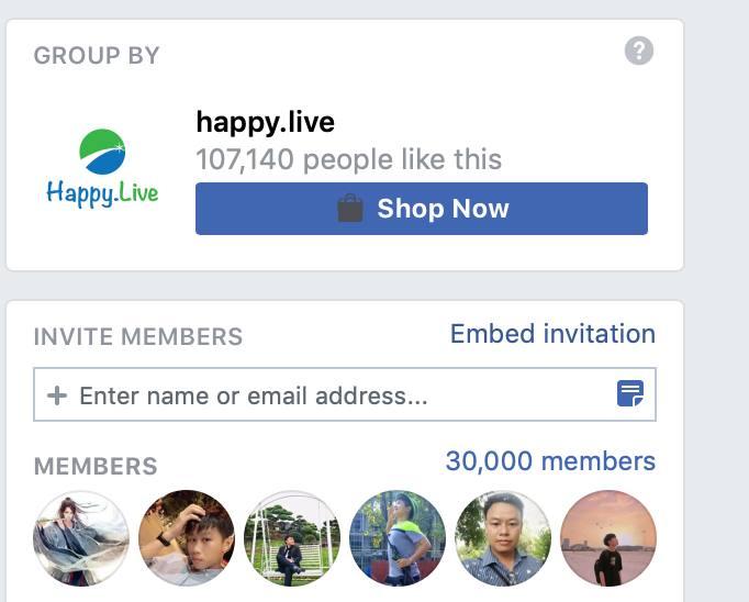 Cộng đồng Happy Live cán mốc 30.000 thành viên
