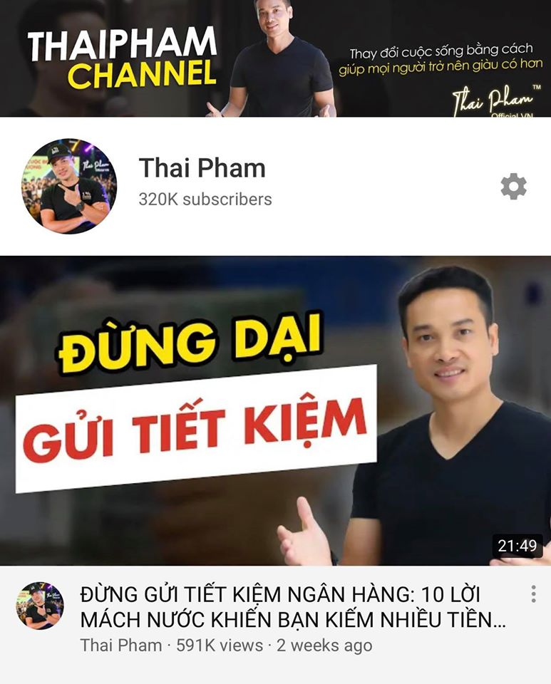 320k Subscribers - người đăng kí kênh Thái Phạm trên Youtube rồi