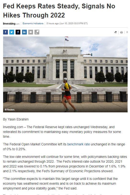 Điểm tin tài chính ngày 11/6/2020