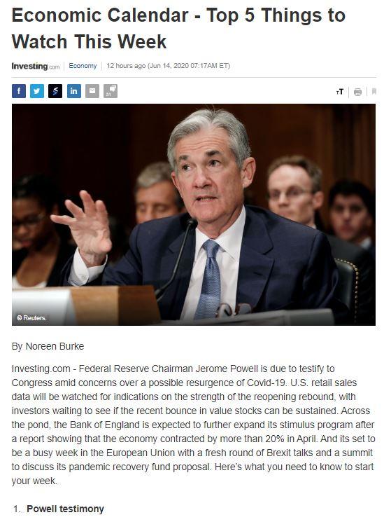 Điểm tin tài chính ngày 15/6/2020