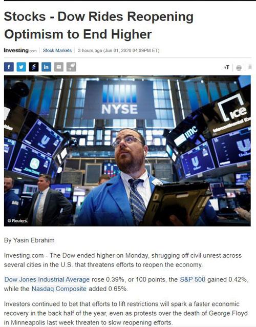 Điểm tin tài chính ngày 2/6/2020