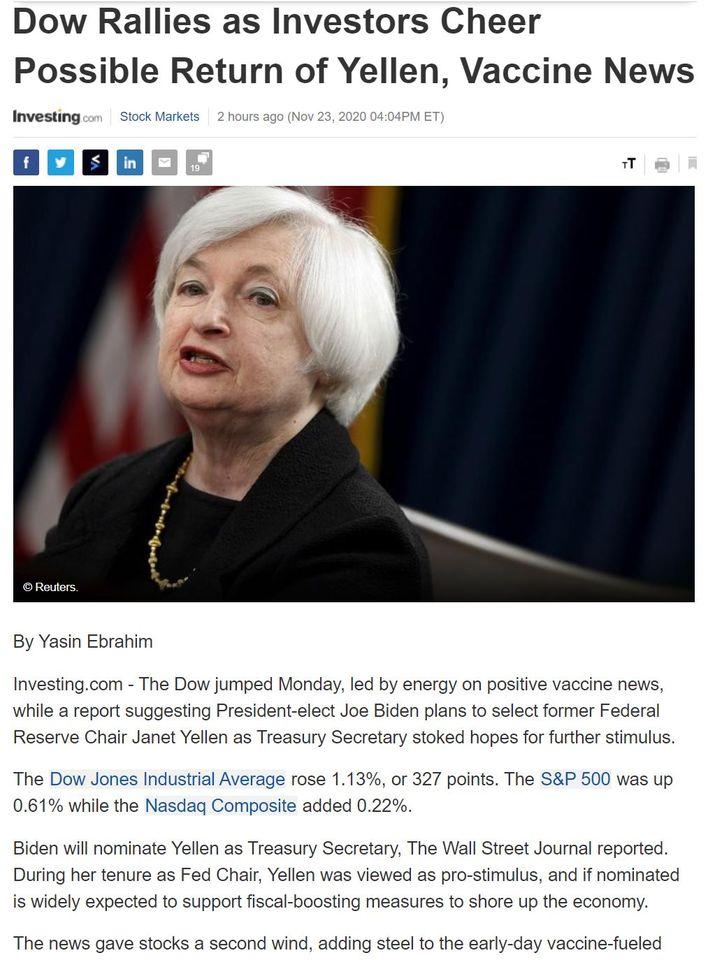 Điểm tin tài chính ngày 24/11/2020