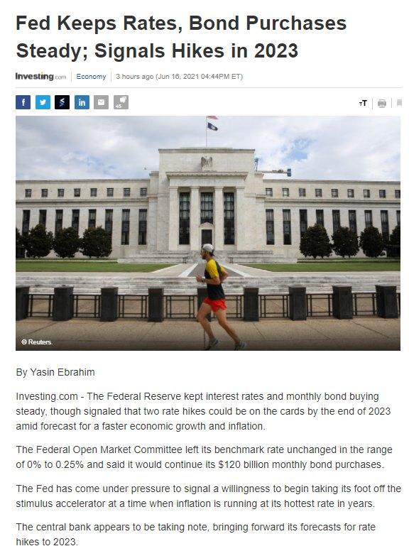 Điểm tin tài chính ngày 17/6/2021