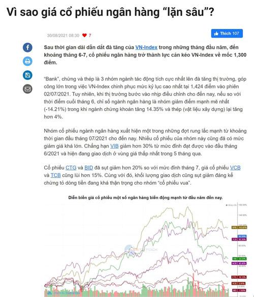 Điểm tin tài chính ngày 31/8/2021